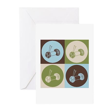 Knitting Pop Art Greeting Cards (Pk of 10)