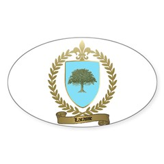LACASSE Family Crest Oval Decal