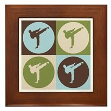 Karate Pop Art Framed Tile