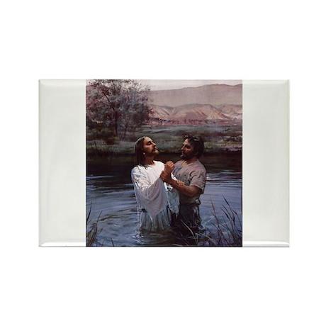 Jesus Baptism River Jordan Rectangle Magnet (100 p