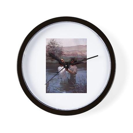 Jesus Baptism River Jordan Wall Clock