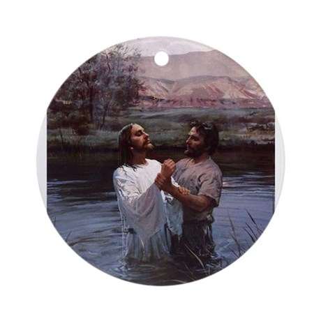 Jesus Baptism River Jordan Ornament (Round)