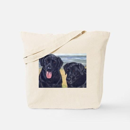 Cute Black labs Tote Bag