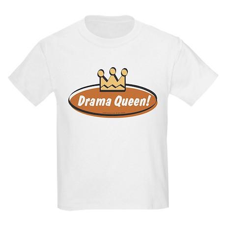 Vintage Drama Queen (Girls) Kids Light T-Shirt