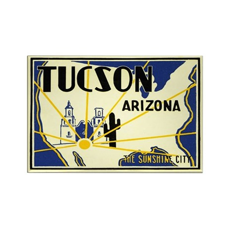 Tucson; Sunshine City Rectangle Magnet