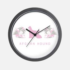 """Elegant"" Afghan Hound Wall Clock"