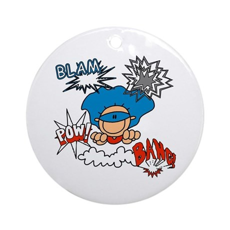 Blam Pow Super Boy Ornament (Round)