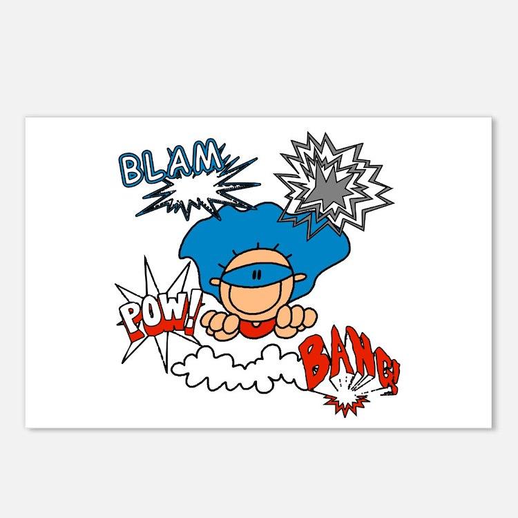 Blam Pow Super Boy Postcards (Package of 8)