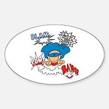Blam Pow Super Boy Oval Decal