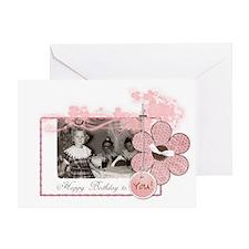"""""""Pink Girl"""" Greeting Card"""