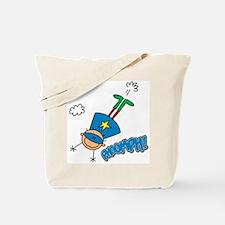 Boy Hero Flying Tote Bag