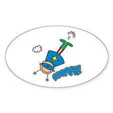 Boy Hero Flying Oval Decal
