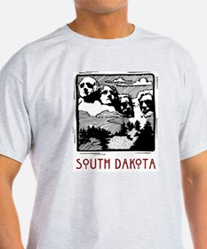 South Dakota Mount Rushmore Ash Grey T-Shirt