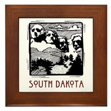South Dakota Mount Rushmore Framed Tile