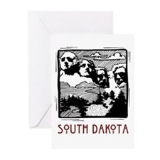 South Dakota Mount Rushmore Greeting Cards (Packag