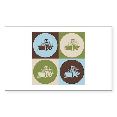 Heavy Equipment Pop Art Rectangle Sticker 10 pk)