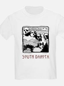 South Dakota Mount Rushmore Kids T-Shirt