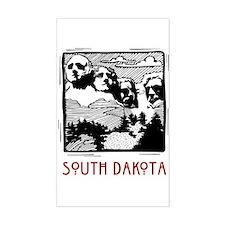 South Dakota Mount Rushmore Rectangle Decal