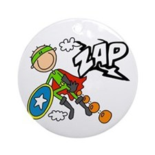 ZAP Boy Hero Ornament (Round)