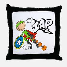 ZAP Boy Hero Throw Pillow