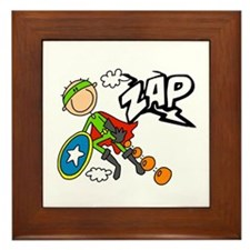 ZAP Boy Hero Framed Tile