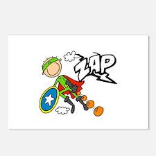 ZAP Boy Hero Postcards (Package of 8)