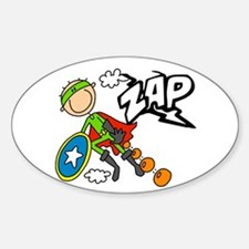 ZAP Boy Hero Oval Decal