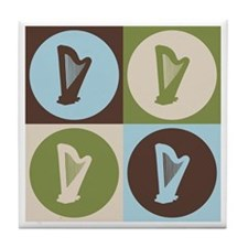 Harp Pop Art Tile Coaster