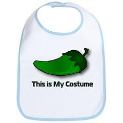 Jalapeno Halloween - This is My Costume Bib