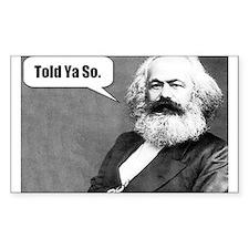 Karl Marx Rectangle Decal
