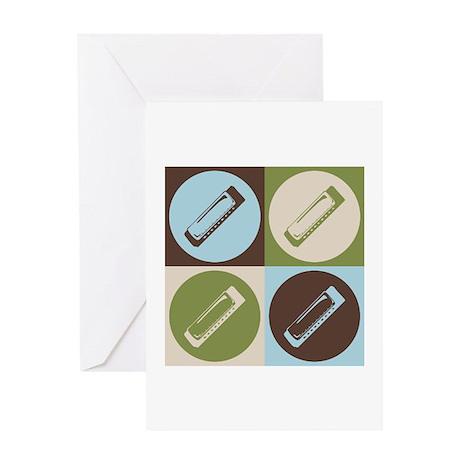 Harmonica Pop Art Greeting Card