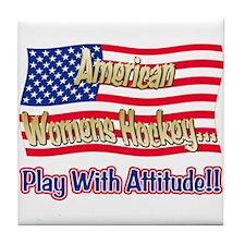 American Womens Hockey Tile Coaster