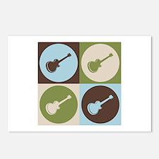 Guitar Pop Art Postcards (Package of 8)