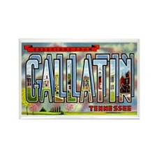 Gallatin Tennessee Greetings Rectangle Magnet (10