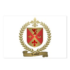 LANDRY Family Crest Postcards (Package of 8)