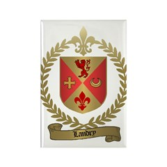 LANDRY Family Crest Rectangle Magnet