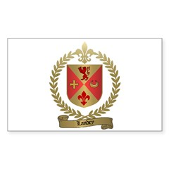 LANDRY Family Crest Rectangle Decal
