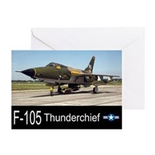 F-105 Thunderchief Fighter Bomber Greeting Cards (