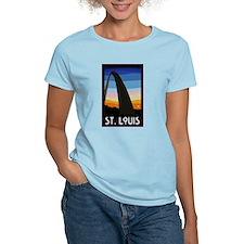St. Louis Arch Women's Pink T-Shirt