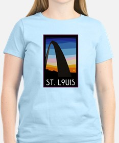 St. Louis Arch Women's Pink T-Shirt