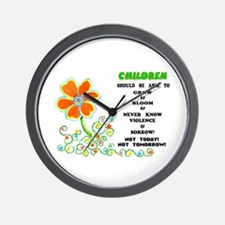 Love The Children! Wall Clock