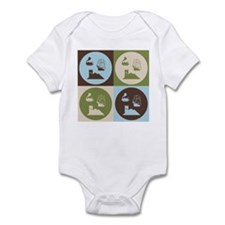 German Board Game Pop Art Infant Bodysuit