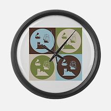 German Board Game Pop Art Large Wall Clock