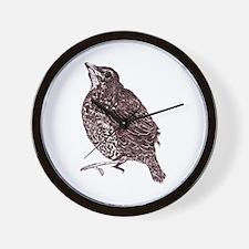 American Robin Bird Wall Clock