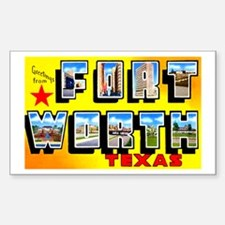 Fort Worth Texas Greetings Rectangle Decal