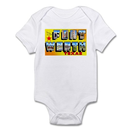 Fort Worth Texas Greetings Infant Bodysuit