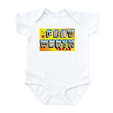 Fort Worth Texas Greetings Infant Bodysuit
