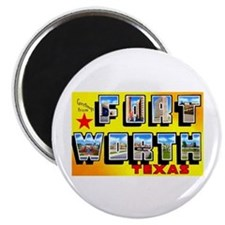 Fort Worth Texas Greetings Magnet