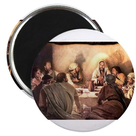 """Jesus Eats with Disciples 2.25"""" Magnet (10 pack)"""