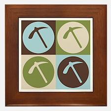 Geology Pop Art Framed Tile